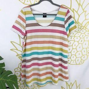 Agnes & Dora | Multi-color Striped Everyday Top!